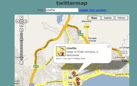 Twittermap, localizando a los usuarios de Twitter
