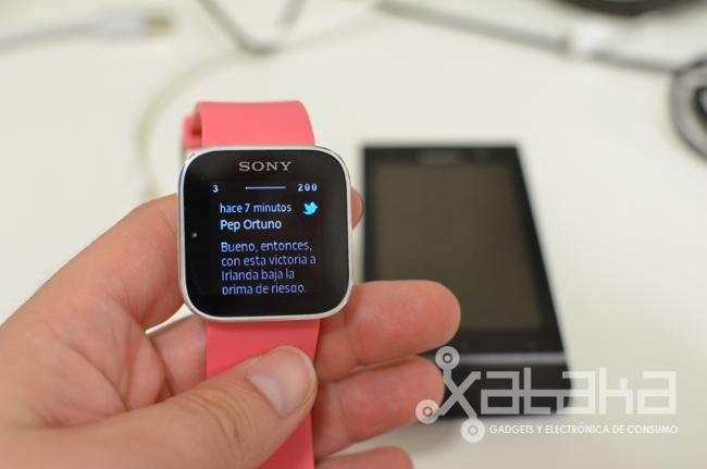 Sony Smartwatch en funcionamiento