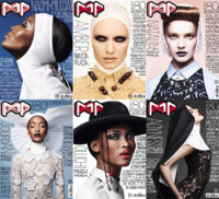 Naomi Campbell, Agyness Deyn, Amber Valletta y Natalia Vodianova en Pop