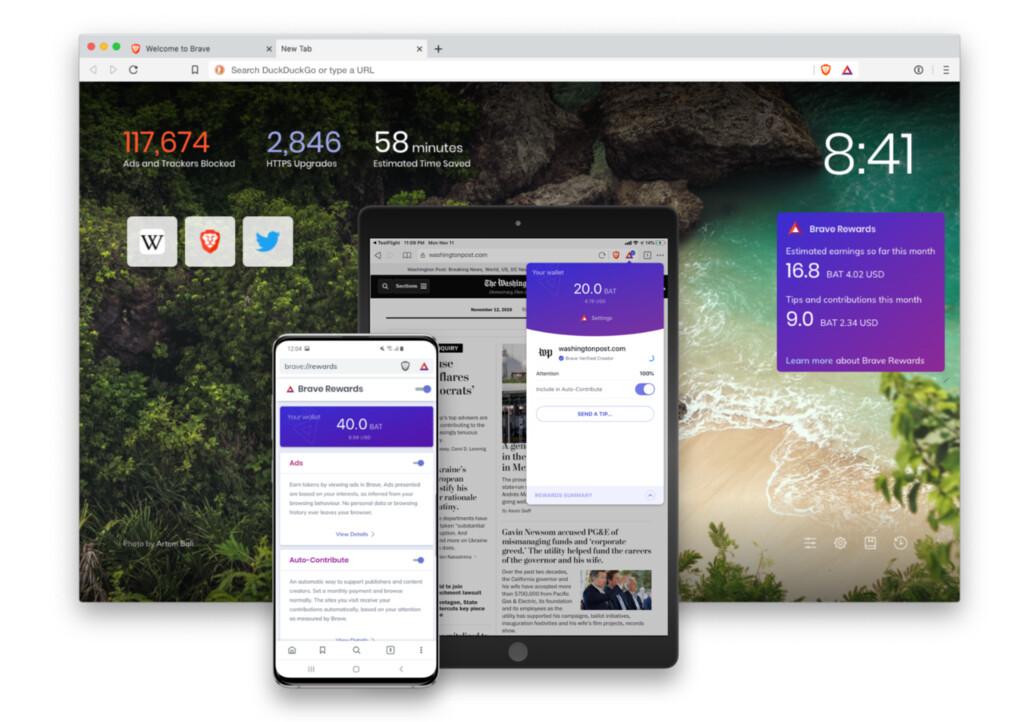 Brave alcanza los 20 millones de usuarios activos mensuales un año después de salir de beta