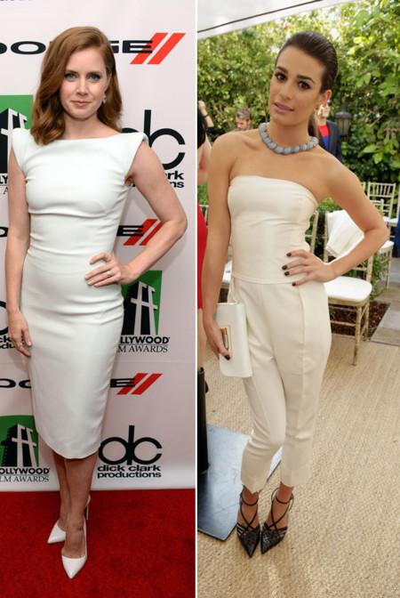 Amy Adams Lea Michele look blanco