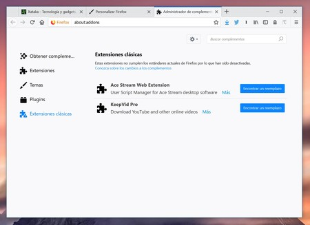 Firefox Extensiones