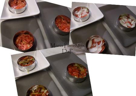 Ensalada de huevo y salmón marinado