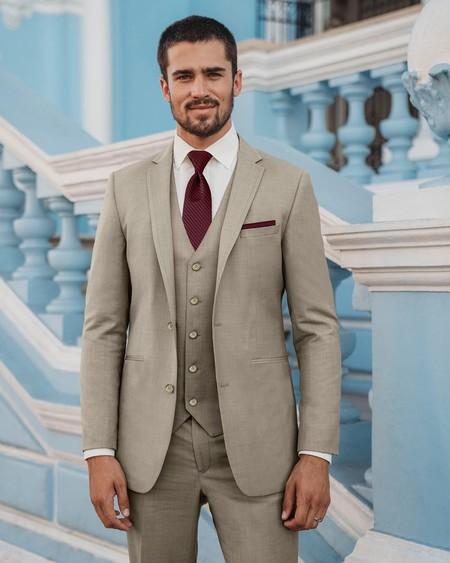 Tan Suit Men Street Style Beige Trendencias Hombre 10