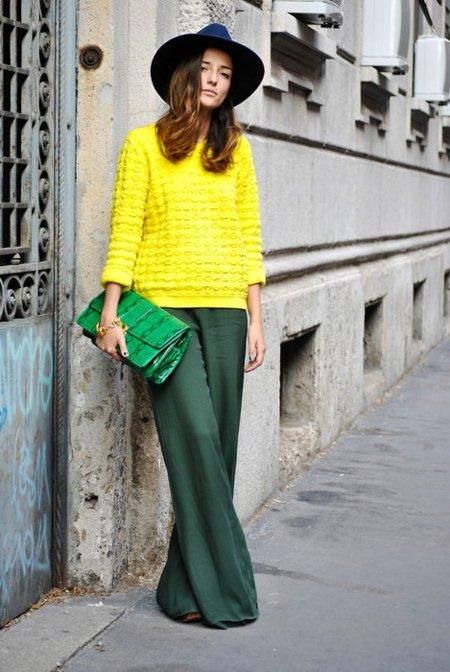 Moda en la calle: todo era mentira, la vida es verde, no rosa