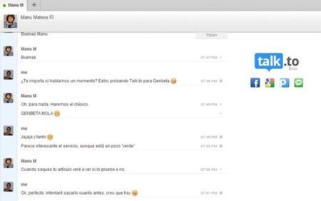 Servicio de mensajería instantánea Talk.to