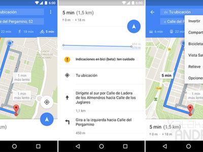 Google Maps ya permite obtener indicaciones para llegar en bicicleta en España