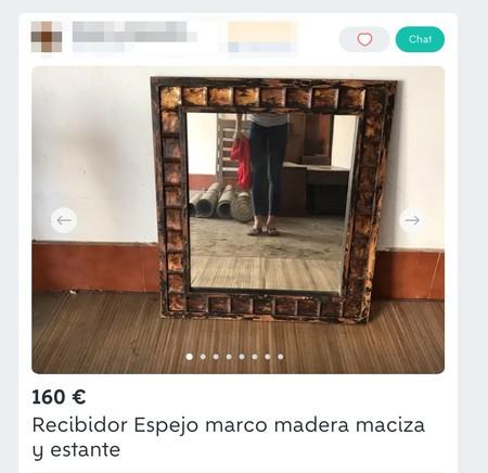 Window Y Recibidor Espejo Marco Madera Maciza Y Estante De Segunda Mano Por 160 Eur En A Laracha En Wallapop