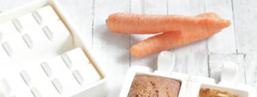Bizcochitos individuales de zanahoria, pasas y ron. Receta