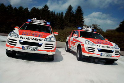 Porsche Cayenne Emergency Medical Vehicle para los bomberos de Stuttgart