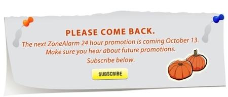Descarga el 13 de octubre Zone Alarm Pro 2009 (válido para un año)