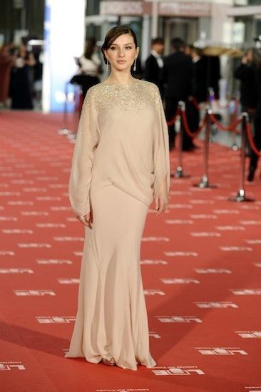 María Valverde confió en Christian Dior y Bulgari para la alfombra roja de los Goya 2012