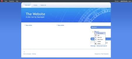 Sauropol, otra herramienta para crear nuestras páginas web