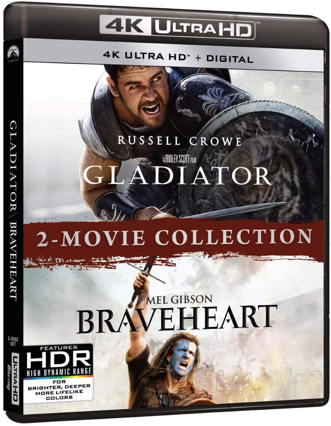 Gladiator/Braveheart 2-Movie Collection en Blu-ray 4K