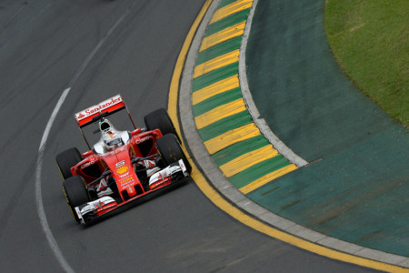 Sebastian Vettel Pista Ferrari