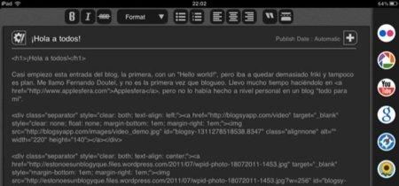 Blogsy, herramienta para bloguear desde el iPad: A Fondo