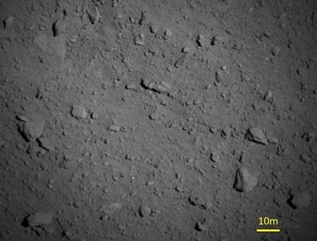 Espectaculares imágenes del asteroide Ryugu a solo 900 metros de altura