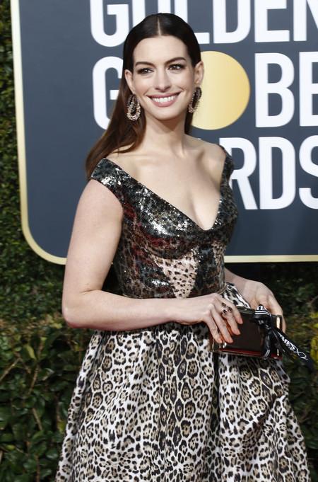 Globos De Oro 2019 Melenas Anne Hathaway