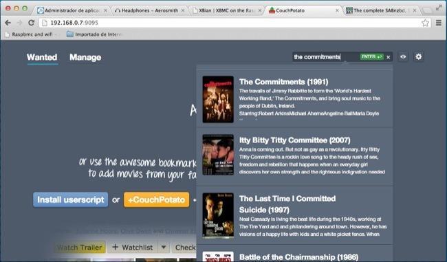 CouchPotato, una interesante opción para buscar y descargar películas