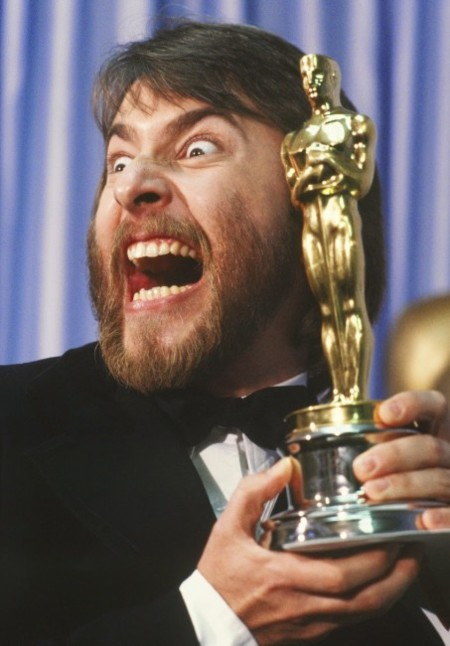 Rick Baker con su primer Oscar