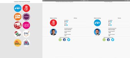 App de himnos de los partidos políticos