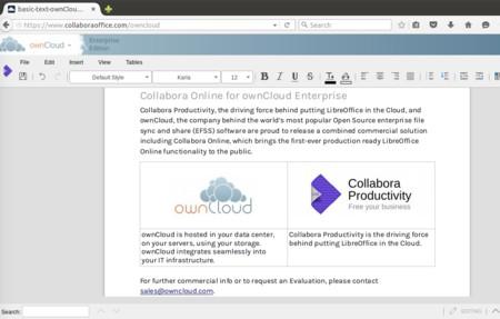 Collabora Online: La primera versión empresarial de LibreOffice sale a la venta con OwnCloud