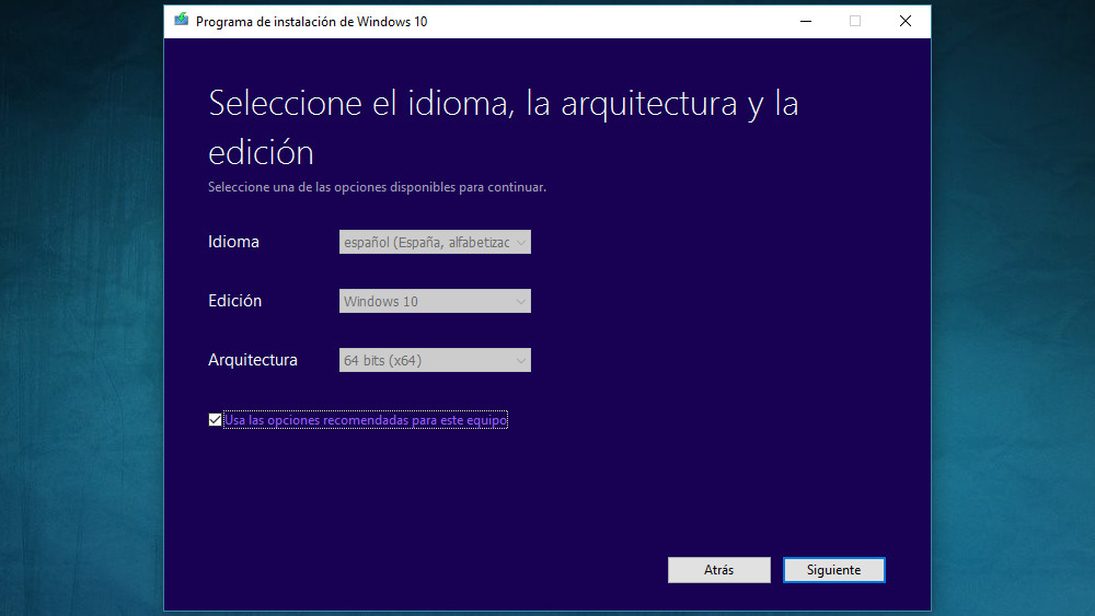 Instalacion Windows 10