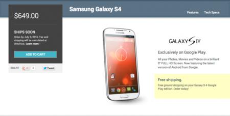 La edición Google Play del Galaxy S4 desaparece de la store