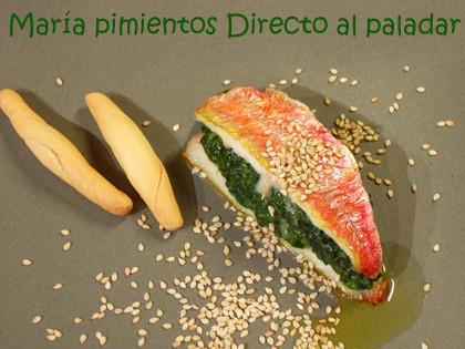 Receta de salmonetes rellenos de espinacas y parmesano