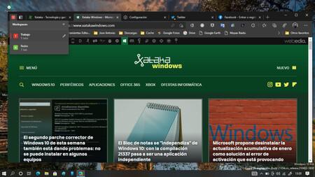 Cómo probar la función Workspaces en Edge para organizar mejor las pestañas en el navegador