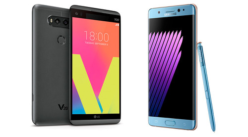 LG V20 y Samsung Galaxy Note 7 frente a frente: experiencia multimedia vs productividad