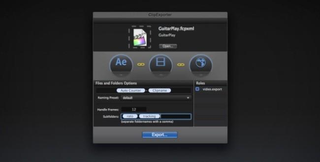 ClipExporter 2, mejora el flujo de trabajo entre FCPX y otras aplicaciones de edición de vídeo