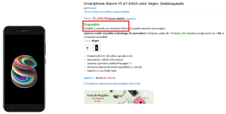Xiaomi Mi A1 Amazon Mexico