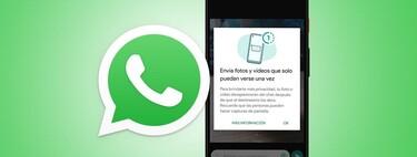 Cómo enviar fotos que desaparecen en WhatsApp, ya disponible en la beta