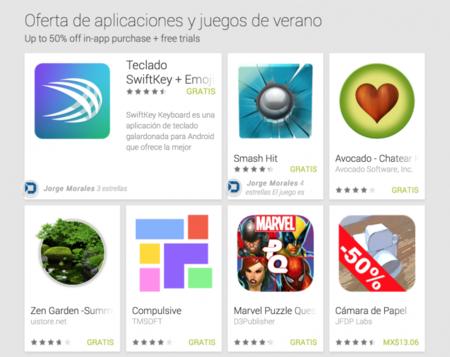 Google Play sigue celebrando el verano con grandes descuentos
