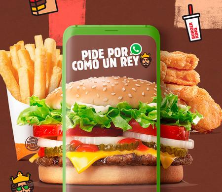 Burger King ahora nos permitirá pedir hamburguesas a domicilio por medio de WhatsApp en México