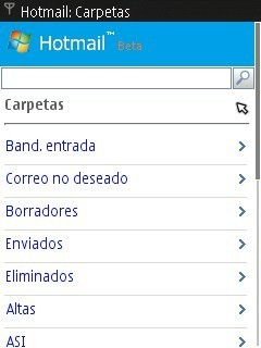 Windows Live Hotmail Mobile
