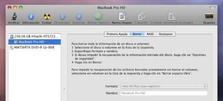 utilidad de discos apple mac os x snow leopard formatear lion
