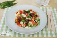 Ensalada de judías blancas con anchoas. Receta saludable