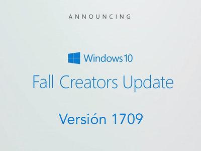 Aún faltan meses, pero ya sabemos que Fall Creators Update llegará al mercado bajo la versión 1709