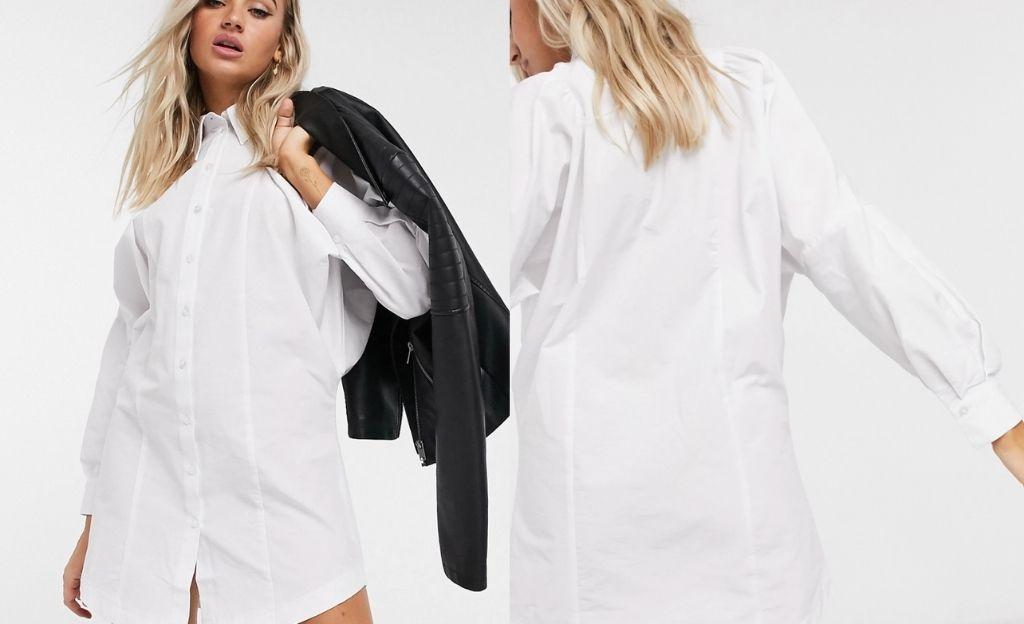 Vestido camisero blanco de Topshop