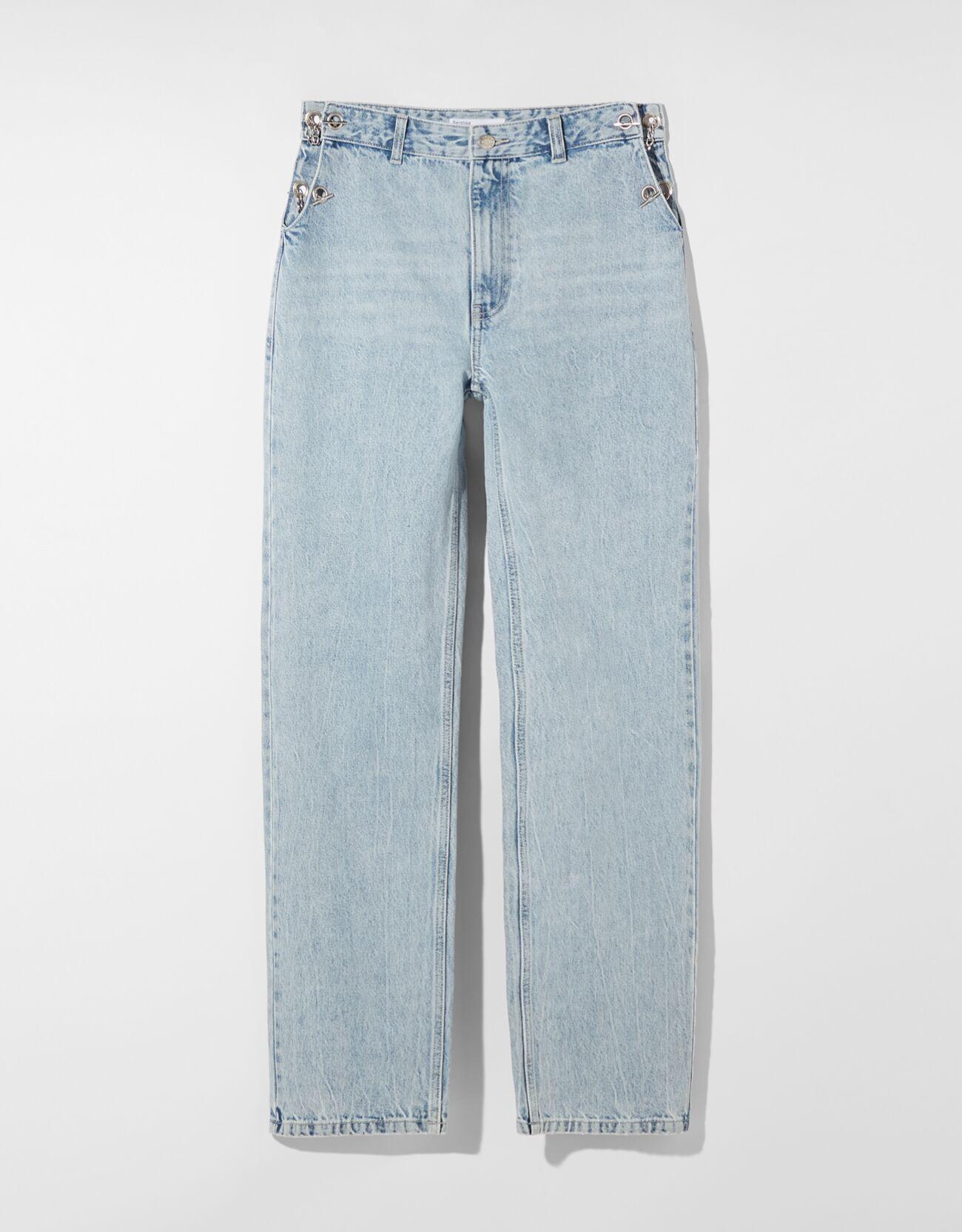 Jeans cut out cadena.