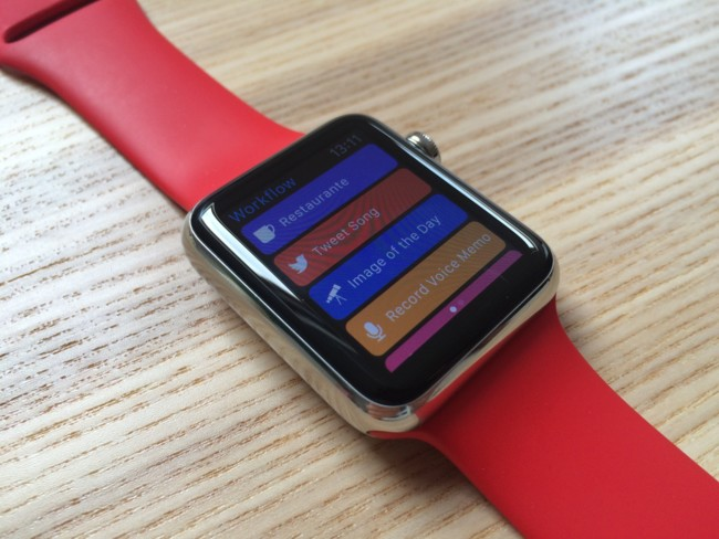 Workflow en Apple Watch