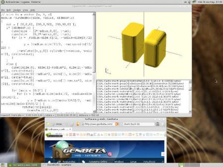 OpenSCAD funcionando en Fedora 19 Beta