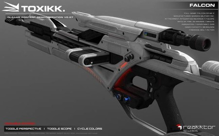 Así de chulas son las armas de TOXIKK en 3D
