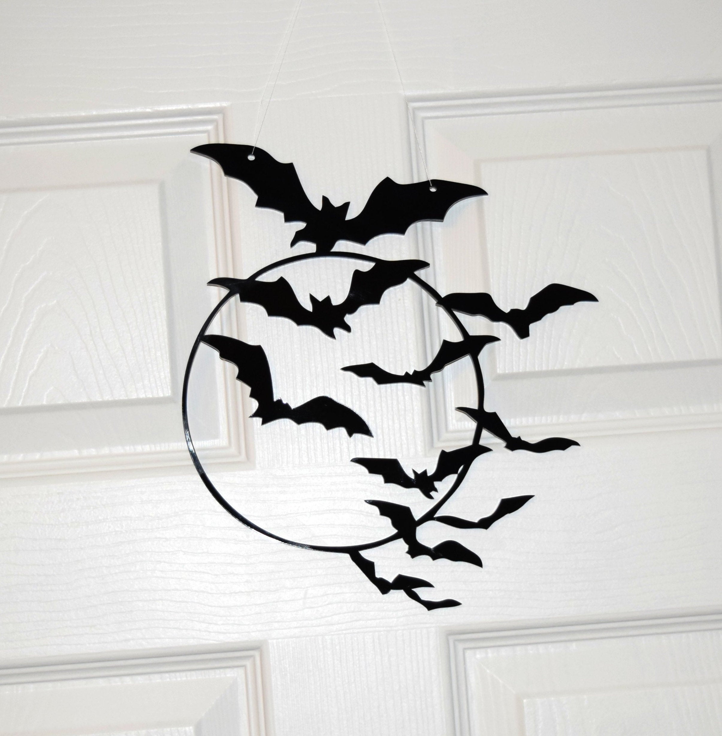 Halloween Wreath Bats, Halloween Door Decor, Scary Bats, Halloween Party Decor, Spooky Bats