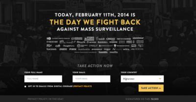 The Day We Fight Back, grandes y pequeñas compañías tecnológicas contra la vigilancia en la red