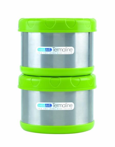 Que no se te enfríe la papilla con el  set de dos termos porta alimentos de BebeDue Termaline: ahora 44,95 euros en Amazon