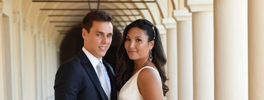 Louis Ducruet, hijo de Estefanía de Mónaco, se casa con su novia Marie Chevallier. Ya podemos ver el primer look de la boda civil