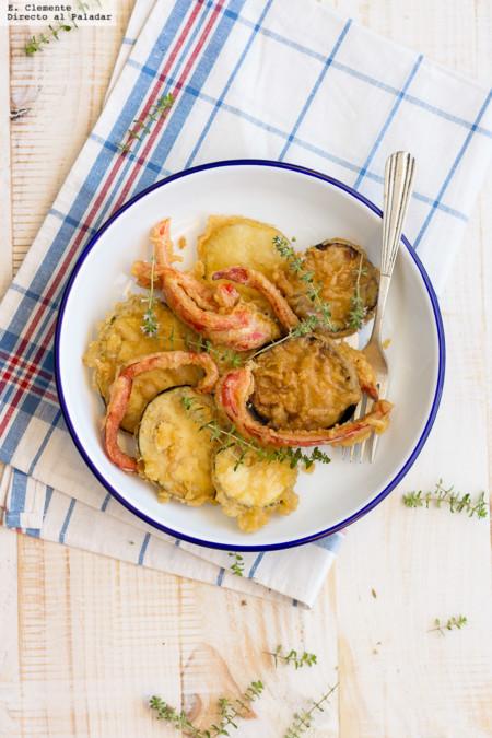 Ratatouille en tempura. Receta